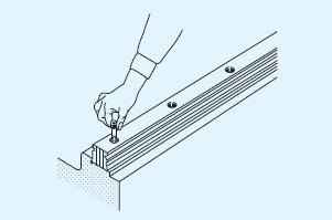 滑块与直线导轨的分离式安装法