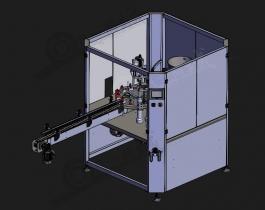 自动压盖封盖设备3D模型