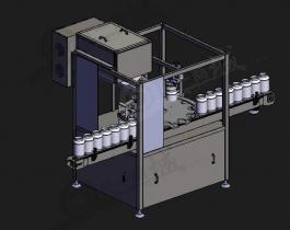 粉末充填灌装机模型图